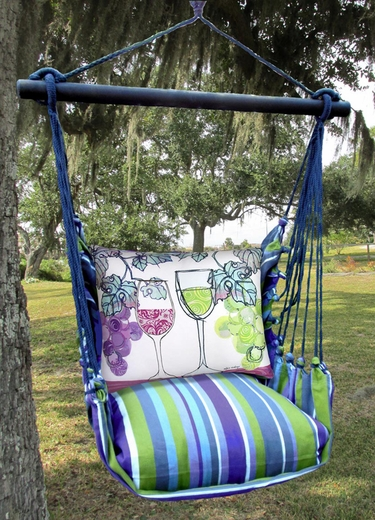 Folsom Wine Glasses Hammock Chair Swing Set - Click to enlarge