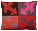 French Quarter Lava Outdoor Pillow