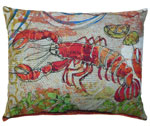 Fresh Catch Lobster Outdoor Pillow