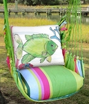 Fresh Lime Fish w/Coral Hammock Chair Swing Set