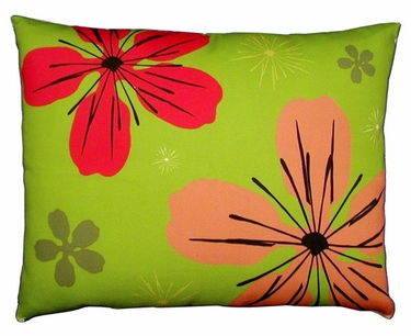 Fresh Lime Flowers Outdoor Pillow - Click to enlarge