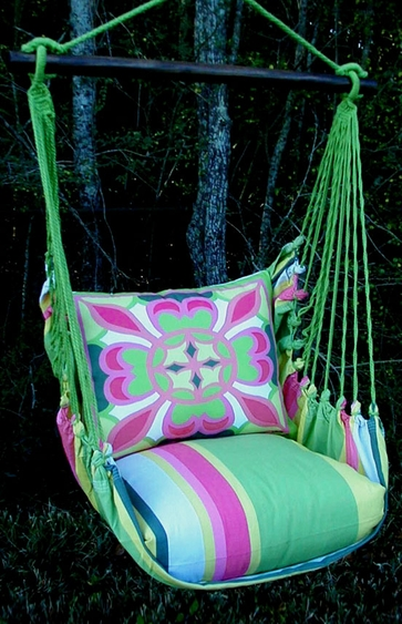 Fresh Lime Geo 3 Hammock Chair Swing Set - Click to enlarge
