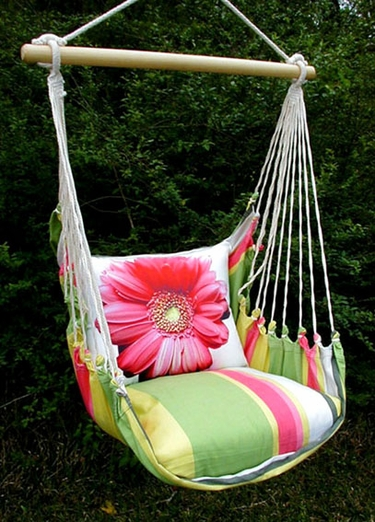 Fresh Lime Gerbera Daisy Hammock Chair Swing Set - Click to enlarge
