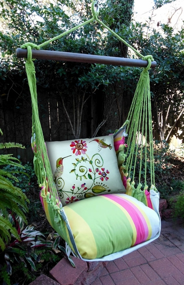 Fresh Lime Hummingbird Hammock Chair Swing Set - Click to enlarge