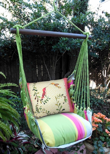 Fresh Lime Hummingbirds Hammock Chair Swing Set - Click to enlarge