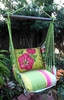 Fresh Lime Pink Hibiscus Hammock Chair Swing Set