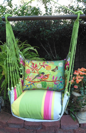 Fresh Lime Prism Garden Hammock Chair Swing Set - Click to enlarge