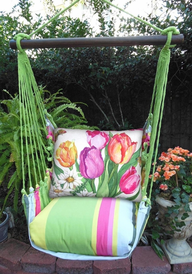 Fresh Lime Spring Bouquet Hammock Chair Swing Set - Click to enlarge