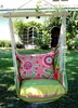 Fresh Lime Wild Flower Hammock Chair Swing Set