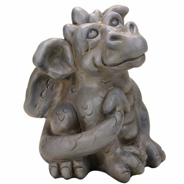 Friendly Dragon Statue - Stone Finish - Click to enlarge