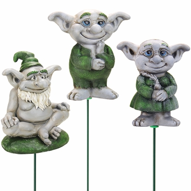 Friendly Troll Plant Stakes (Set of 3) - Click to enlarge