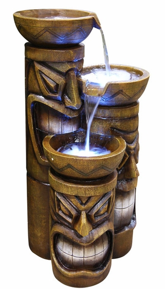 Friki Tiki ThreeTier LED Fountain - Click to enlarge