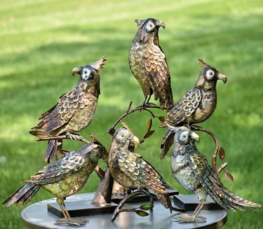 Metallic Parrots (Set of 6) - Click to enlarge