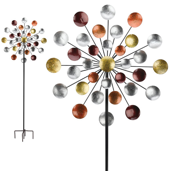 Galaxy Wind Spinner Kinetic Wind Sculptures for Sale GardenFun