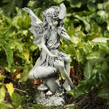 Garden Angel on Mushroom - Click to enlarge