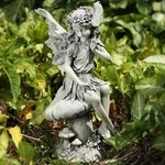 Garden Angel on Mushroom