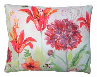Garden Aviary Bumblebee Outdoor Pillow - Click to enlarge