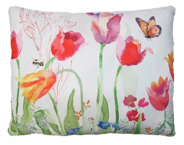 Garden Aviary Butterfly Outdoor Pillow - Click to enlarge