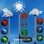 Garden Friends Solar Garden Stakes (Set of 3)
