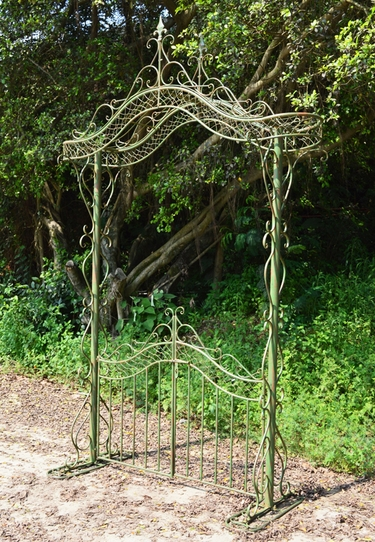 Garden Gate w/Arch - Antique Green - Click to enlarge