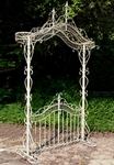 Garden Gate w/Arch - Antique White