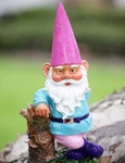 Garden Gnome Hipster - Pink Hat