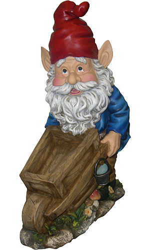 Garden Gnome with Cart - Click to enlarge