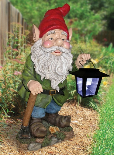Garden Gnome With Solar Lantern Only 109 95 At Garden Fun