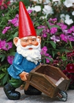 Garden Gnome with Wheelbarrow