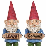 Garden Gnomes w/Attitudes (Set of 2)