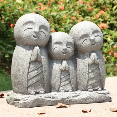 Garden Jizo Family Statue - Click to enlarge