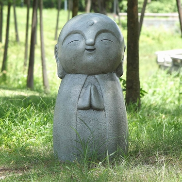 Garden Jizo Statue - Praying - Click to enlarge