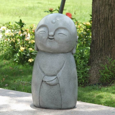 Garden Jizo Statue - Smiling - Click to enlarge