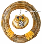Garden Owl Tree Face Decor