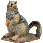 "Garden Squirrel - 10"" Grey"