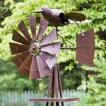 Garden Windmill Bird w/Moving Wings