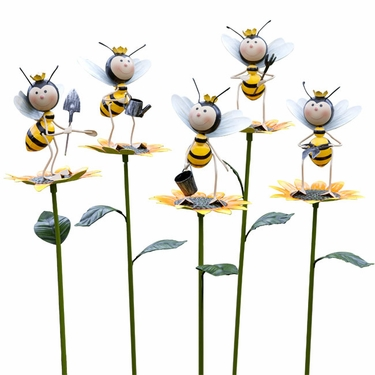 Gardening Bee Stakes (Set of 5) - Click to enlarge