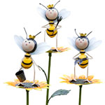 Gardening Bee Stakes (Set of 5)