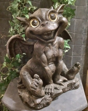 Gargoyle decor baby ivan only at garden fun for Gargoyle decor