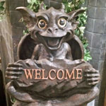 Gargoyle Welcome Sign - Sister Natasha
