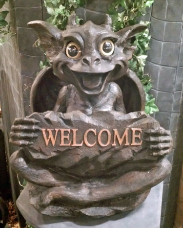 Gargoyle Welcome Sign - Sister Natasha - Click to enlarge