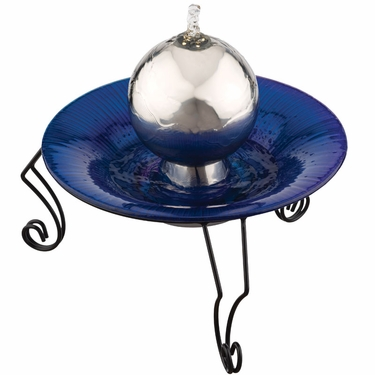 Gazing Ball Tabletop Fountain - Click to enlarge