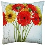 Gerbera Bouquet 2 Outdoor Pillow