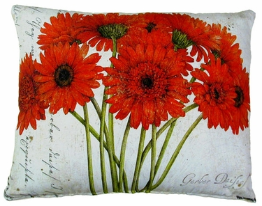 Gerbera Bouquet 3 Outdoor Pillow - Click to enlarge