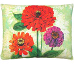 Gerbera Trio Outdoor Pillow