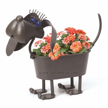Gertruda the Wiener Dog Planter - Click to enlarge