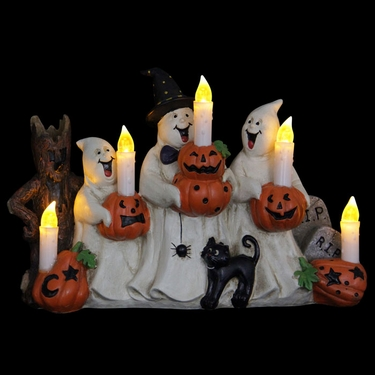 Ghosts w/LED Candles & Timer - Click to enlarge