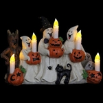 Ghosts w/LED Candles & Timer