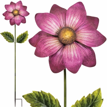 Giant Flower Stake - Magenta (Set of 2) - Click to enlarge
