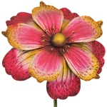 Giant Flower Stake - Pink/Gold